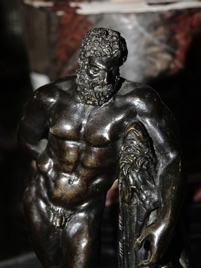 "36- ""Hercules  Bronze sculpture in the taste of the XVIIth century  H: 14 cm"