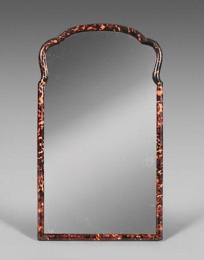 45- Mirror, tortoiseshell frame  England (?) 19th century  81 x 47 cm