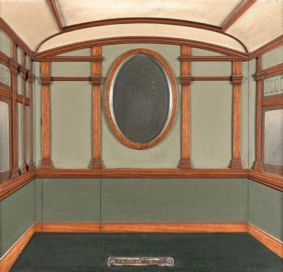 6- ''Agents saloon''  Composition en bois...