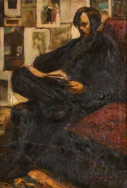 7- Maurice WAGEMANS (attribué à) ''La lecture''...