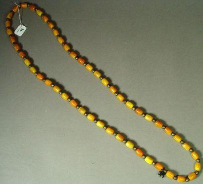 36- Collier de boules couleur ambre
