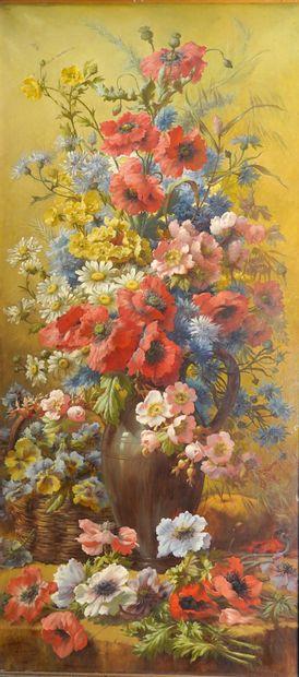 7- Madeleine LEMAIRE (1845-1928)  ''Vase...