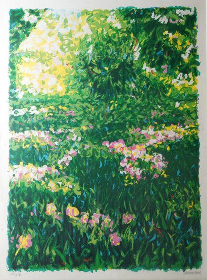 40- BRANDON  ''Les jardins''  Lithographie...