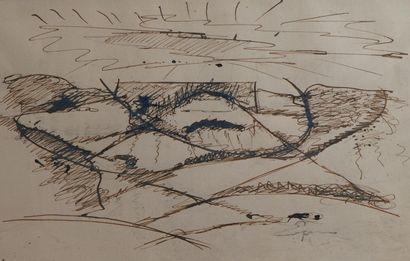 3- Henri ESPINOUZE  ''Composition''  Dessin...