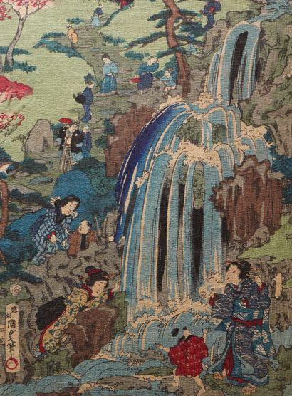 1- ''La cascade''  Estampe japonaise  24...