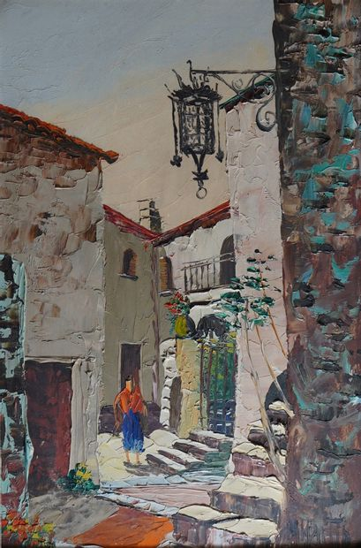 30- MARTIN - Ecole Provençale  ''Rue de village''...