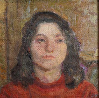 25- Ecole Russe (?)  ''Portrait de femme''...