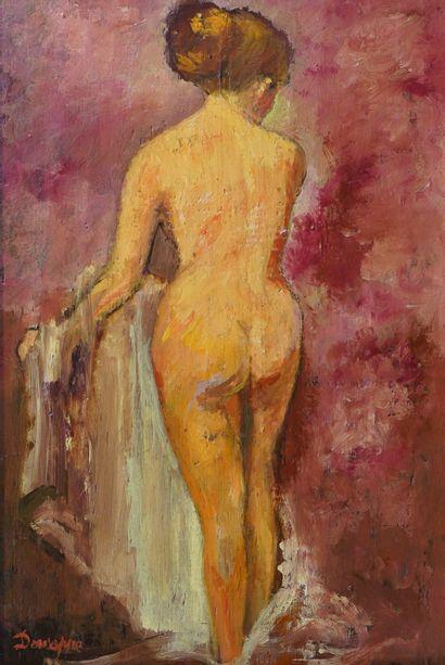 37- DEWEPPE  ''Femme à la toilette''  Huile...