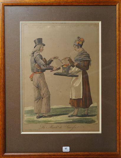 43- ''La marchande de saucisses''  Gravu...