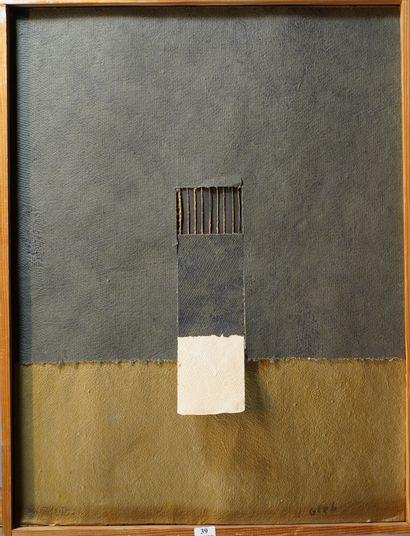 39- GLEB  Estampe et collage  E.A. n° 8/35...