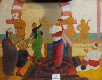 20- Ecole Française  ''Danseur orientaliste''...