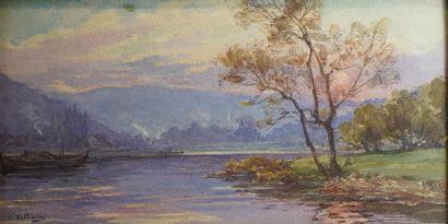 31- C. PELISSIER  ''Paysage à la rivière''...