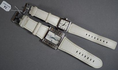 34- FESTINA  Deux montres de dame en acier,...