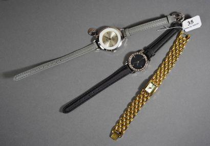 35- CITIZEN  Montre bracelet de dame en métal...