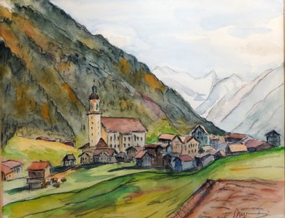 42- Ecole Autrichienne (?)  ''Neustift dans...