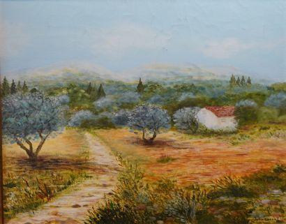 29- Julie LORENT  ''Paysage de Provence''...