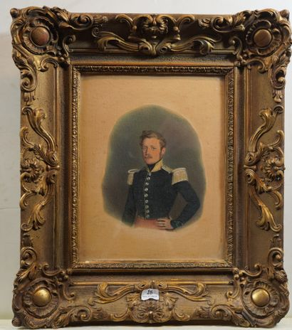 25- D. PIERRE  ''Officier''  Aquarelle signée...