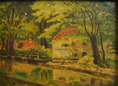 2- Ecole Française  ''Au bord de la rivière''...