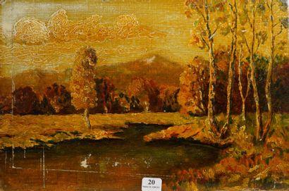 20- Ecole du Nord  ''Paysage d'automne''...