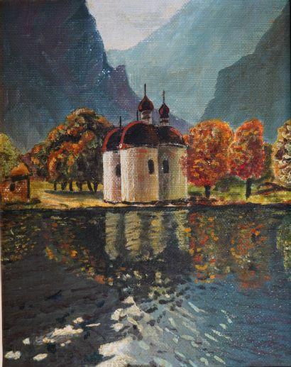7- Ecole Russe  ''St Bartholoma, Königssee''...