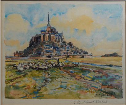 37- Polo GAMBIER  ''Le Mont Saint Michel''...