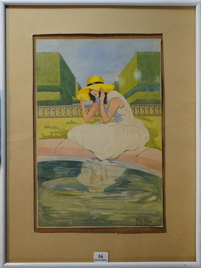 16- Mado COPPAZ  ''Narcisse au chapeau''...