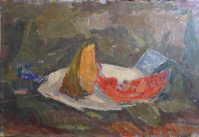 37- A. ABRAMOVIC  ''Nature morte à la pastèque''...