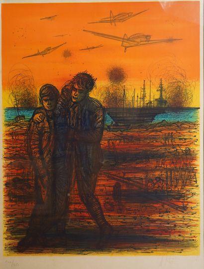 28- Jean CARZOU (1907-2000)  ''Soldat''  Lithographie...