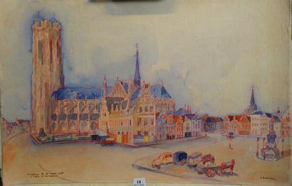 10- Max CHATIAU  ''Eglise de Saint-Rombaut''...