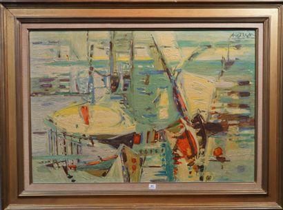 23- Constantin ANDREOU  ''Le port de Rio''...