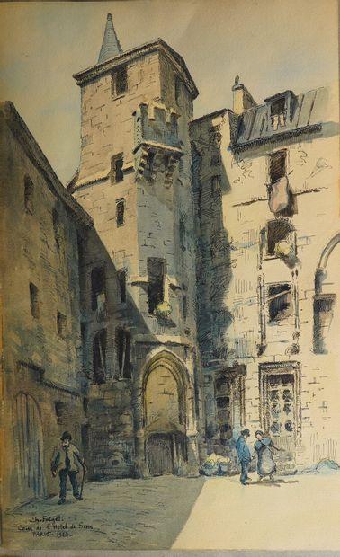 11- Charles FORGET  ''Cour de l'Hôtel de...