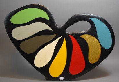 39- Anonyme  ''Palette''  Sculpture polychrome...