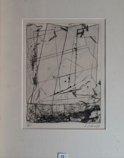 32- Dibran DADERIAN  ''Composition abstraite''...