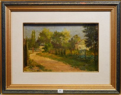 17- Charles-Eugène BUNEL (?)  ''Chemin de...