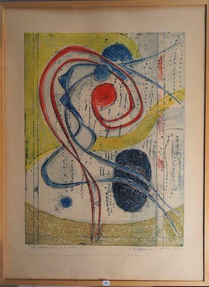 26- Constantin ANDREOU  ''Composition abstraite''...