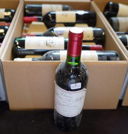 2- 12 bouteilles de Bordeaux : Haut Milon,...