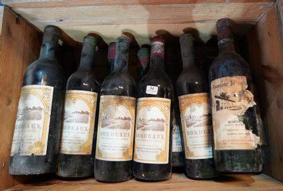 34- 12 bouteilles de Bordeaux divers sans...