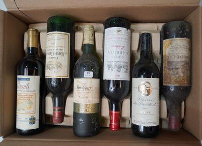 29- 12 bouteilles de vins divers : Bordeaux,...