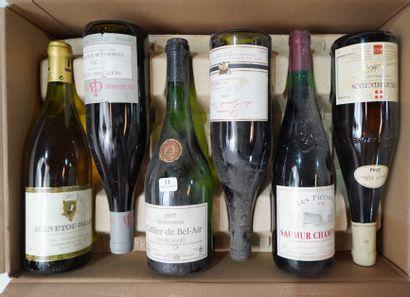 11- 12 bouteilles : Saumur Champigny, Valeras,...
