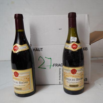 27- 4 bouteilles de Côtes du Rhône Guigal...