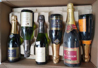 25- 7 flacons de Champagne Mumm, Pol Carson,...