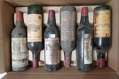 7- 12 bouteilles de Bordeaux divers