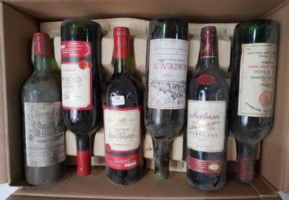 15- 12 bouteilles de Bordeaux divers : Fronsac,...
