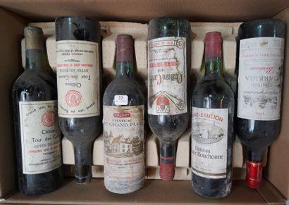 22- 12 bouteilles : St Emilion, Côtes de...