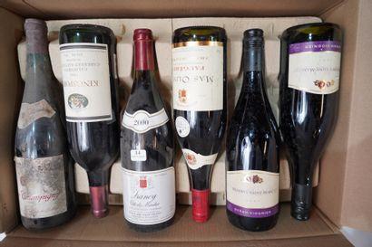 14- 12 bouteilles : Rully, Syrah, Mercurey,...