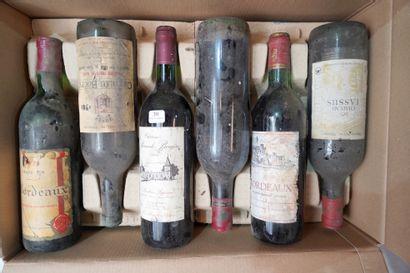 30- 12 bouteilles de vins divers : Bordeaux,...