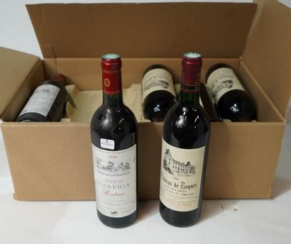 1- 2 bouteilles de Château Calon Ségur 1999...