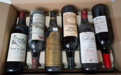 3- 12 bouteilles de Bordeaux divers : Graves,...