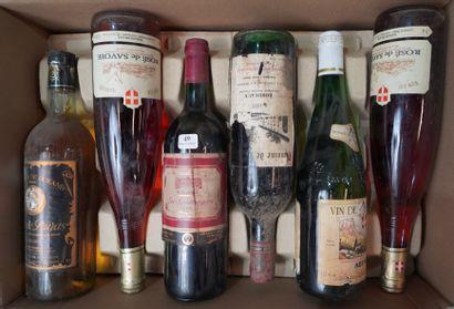 49- 12 bouteilles de vins divers : Bordeaux,...