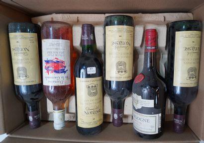 37- 12 bouteilles de vins divers : vins de...
